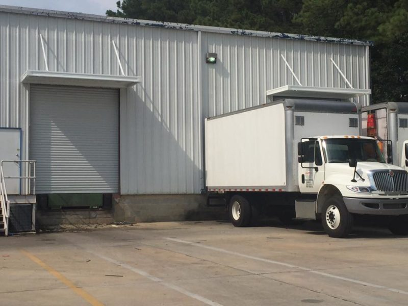 Commercial Loading Dock Metal Aluminum Awning Installation Augusta Georgia