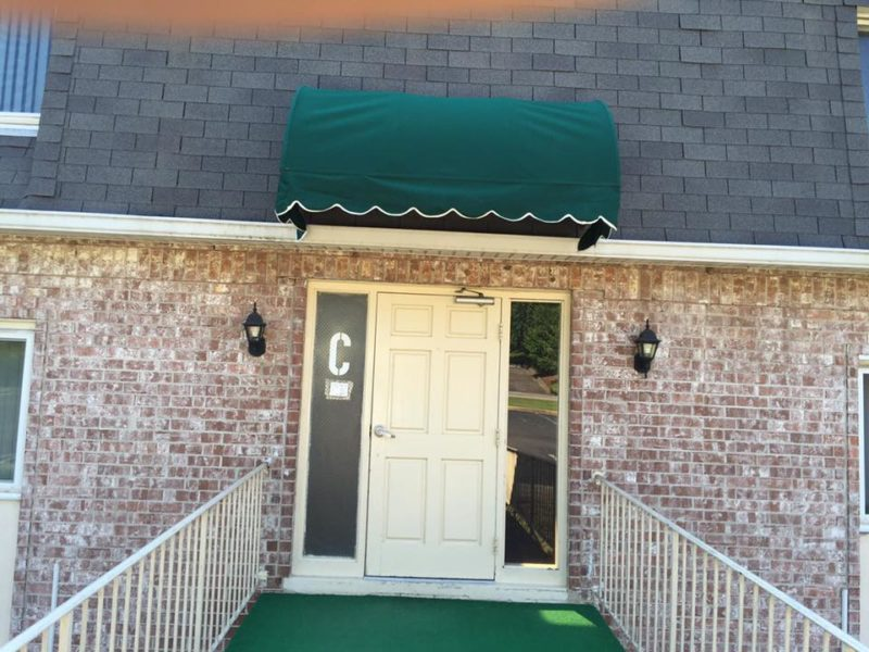 Commercial Entryway Canvas Awning Installation Augusta Georgia