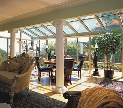 Four Seasons Sunrooms Augusta Georgia-Straight Glass Sunroom with Glass Roof