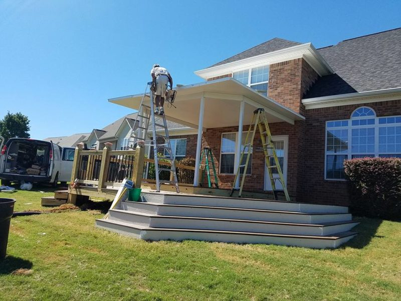 Outside Deck Construction - Aluminum Products Augusta, Georgia