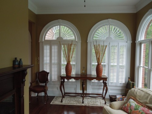 "2 ½"" Louver Shutters with Sunburst"